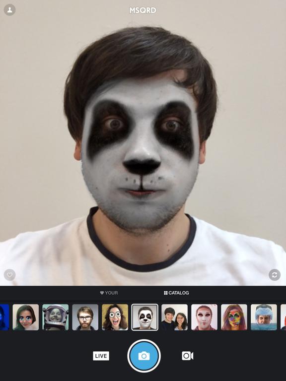 MSQRD — 自撮りビデオ用のライブフィルターとフェイススワップのおすすめ画像1