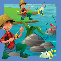 A Fish-er-man-s Learn-ing Game For Small Kid-s: Teach-ing Sort-ing and Puzzle with animal-s
