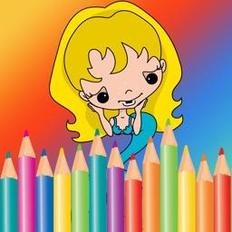 Free Coloring Book Game For Kids - Painting Cute Mermaid