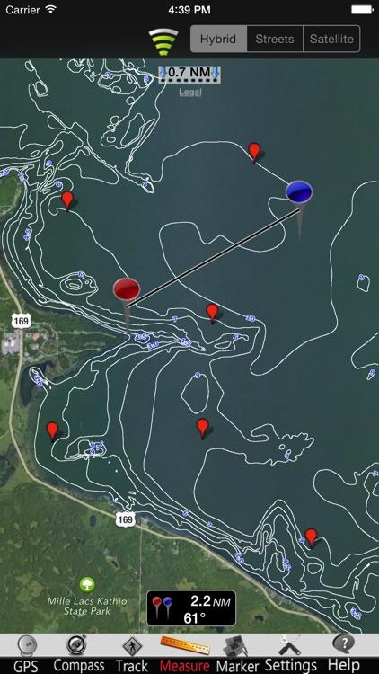 Minnesota Lakes GPS Nautical charts screenshot-3
