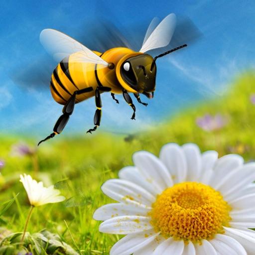 Мед Пчела Атака летающий 3D имитатор Игра - Полететь к Убийство Враг Насекомые