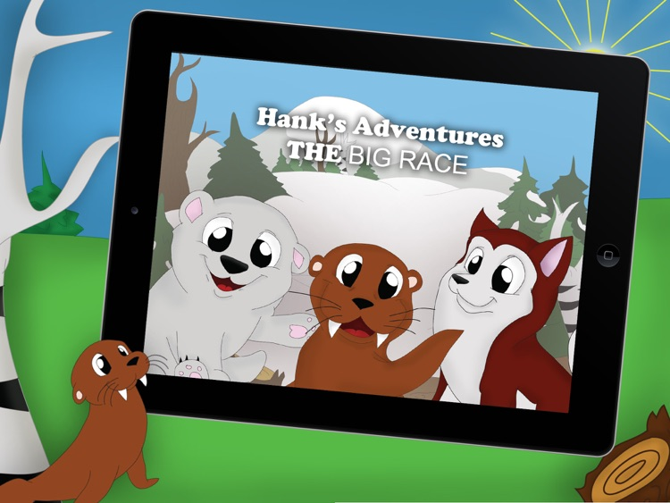 The Big Race!! an animated winter storybook for kids and toddlers with cute animals