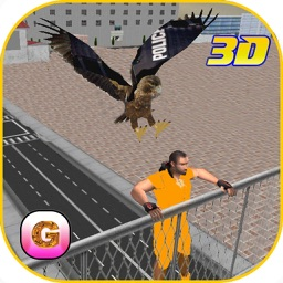 Police Eagle Prisoner Escape - Control City Crime Rate Chase Criminals, Robbers & thieves