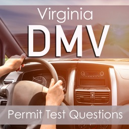 Virginia DMV : Practice Questions for the Written Permit Driving Test ( 1100 Flashcards Q&A )