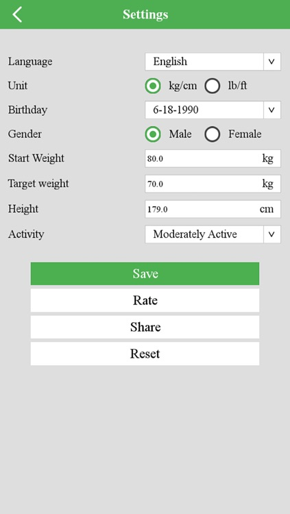 BMI, body, weight Tracker screenshot-3