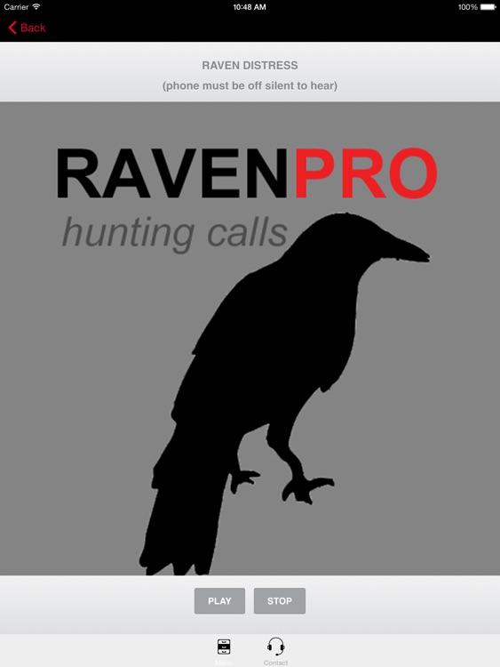 REAL Raven Hunting Calls -- 7 REAL Raven CALLS & Raven Sounds! - Raven e-Caller - BLUETOOTH COMPATIBLE screenshot-0