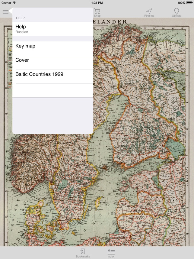 Baltic region 1929 Historical map on the App Store