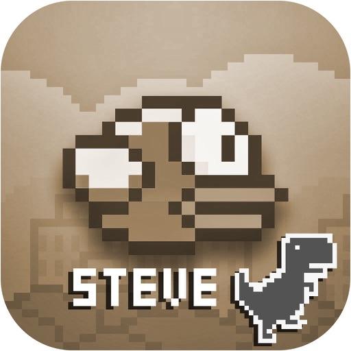 Steve - The Jumping Dinosaur Widget Game and Tappy Bird