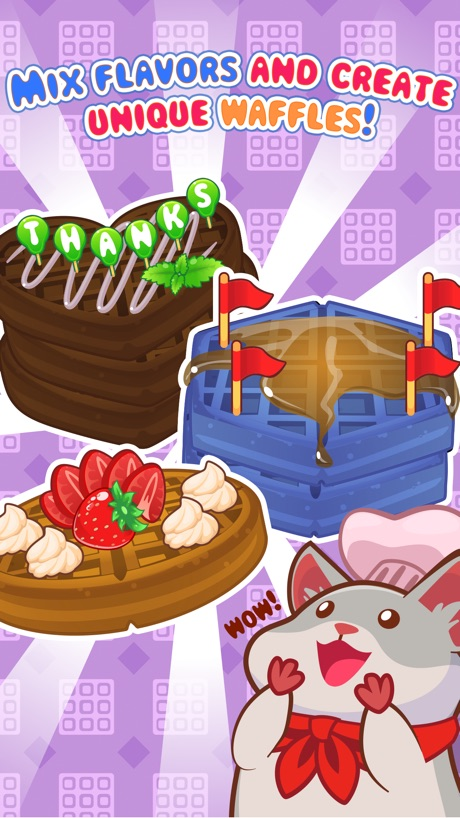 My Waffle Maker – Create, Decorate and Eat Sweet Dessert Pastries!