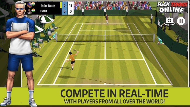 Flick Tennis Online - Play like Nadal, Federer, Djokovic in top multiplayer tournaments! screenshot-0