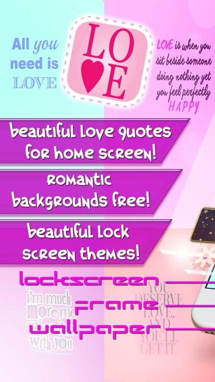 Love Quotes Wallpapers Free 2016 – Cute Backgrounds For Girls with Lock Screen Themes