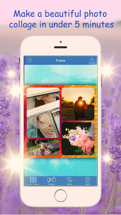InstaPhoto Frames Maker - Summer photo joiner, pictures collage editor free screenshot one