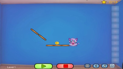 Cat Shmat - Cut the rope like Action Physics Puzzle Game screenshot three