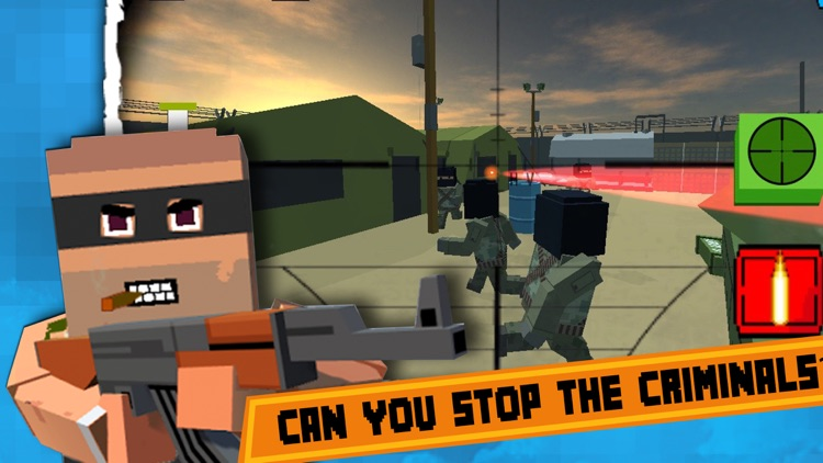 Block Battles City War : Pixel Cops Gun craft in robbers world Game