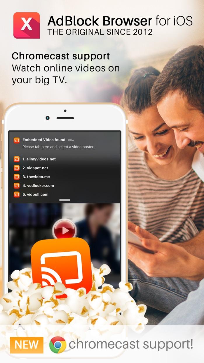 AdBlocker Browser for Chromecast Screenshot