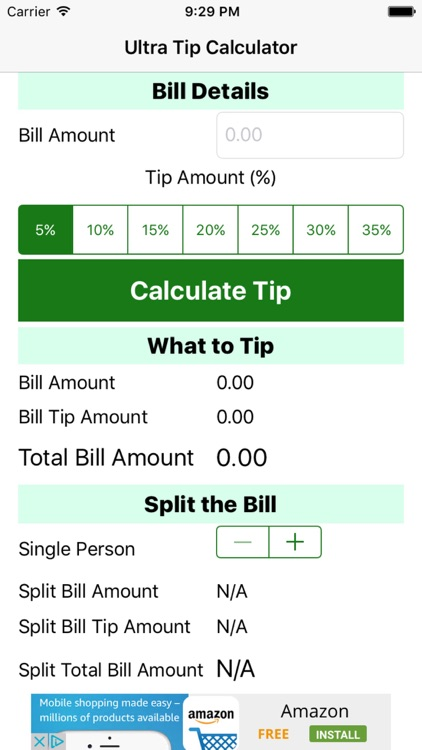 Ultra Tip Calculator