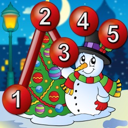 Kids Christmas Connect the Dots Puzzles - educational dot to dot game for preschool children 2+