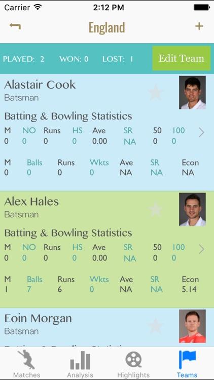 Cricket Scorekeeper Pro - Best scorer app with match analysis screenshot-3