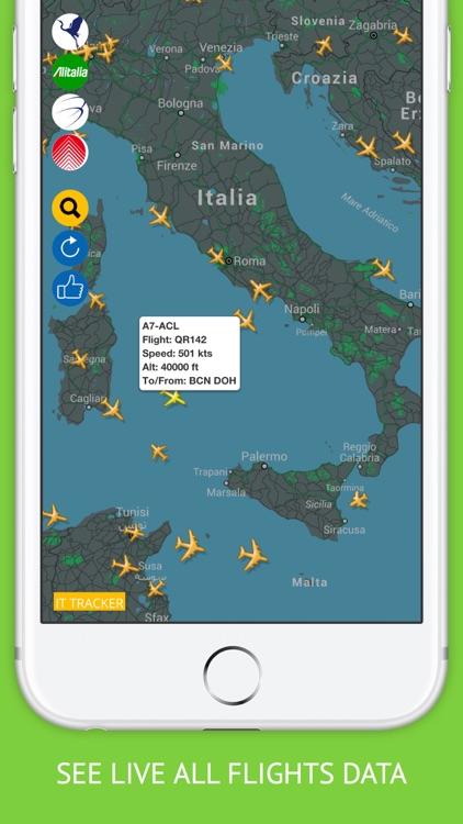 Italia Flights Free : Alitalia, Meridiana Flight Tracker & Air Radar