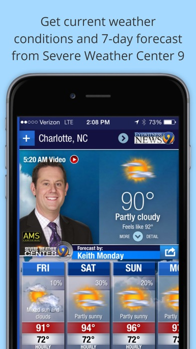 WSOC-TV Channel 9 Weather App for Windows