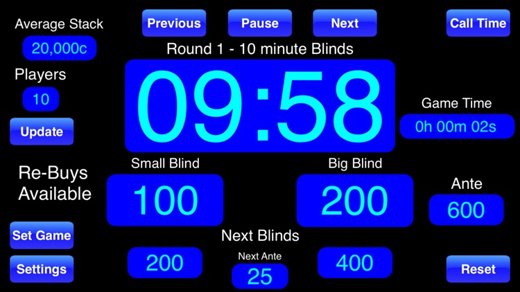 Poker Blinds Timer screenshot-1