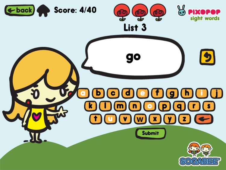 Sight Words & Spelling with Pixopop HD screenshot-3
