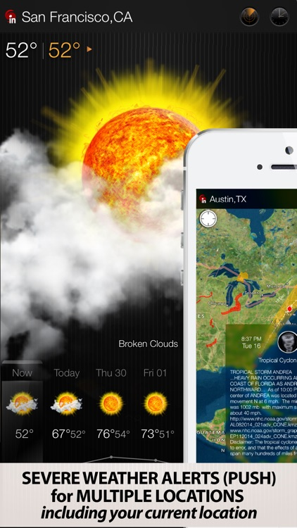eWeather HD - Accurate 10 Day Weather Forecast with Severe Alerts, NOAA Hi-Res Radar and Storm Tracking