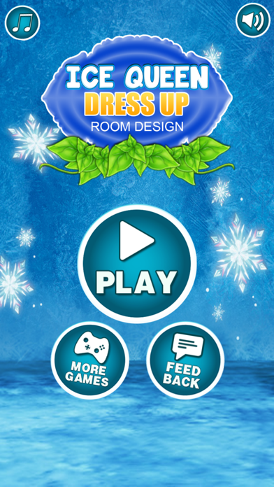 Ice Queen Dress Up Salon Room Design and Painting: Game for