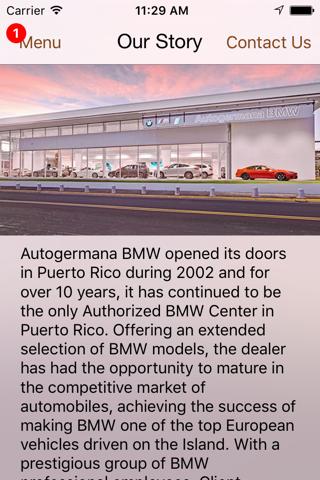 Autogermana BMW DealerApp - náhled