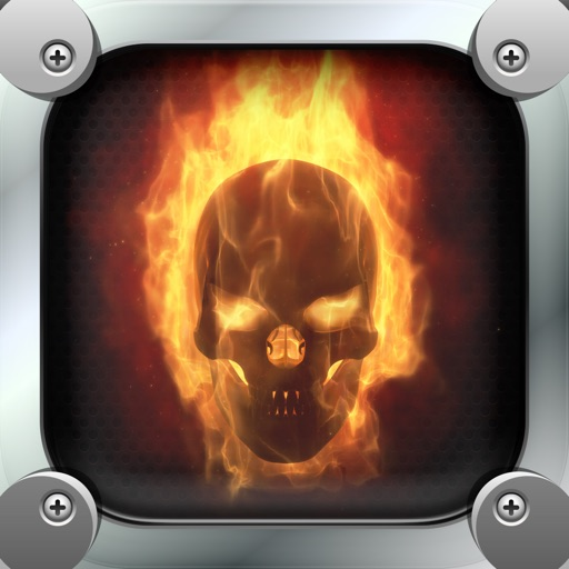 Skull On Fire Wallpapers Cool Background Pictures And