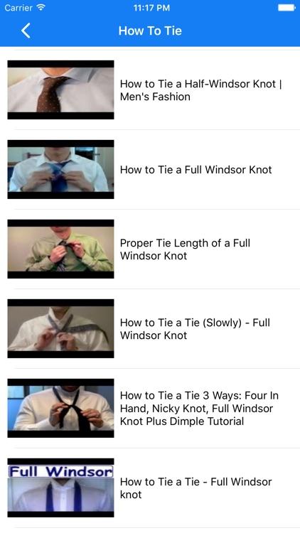 How To Tie a Tie . screenshot-4