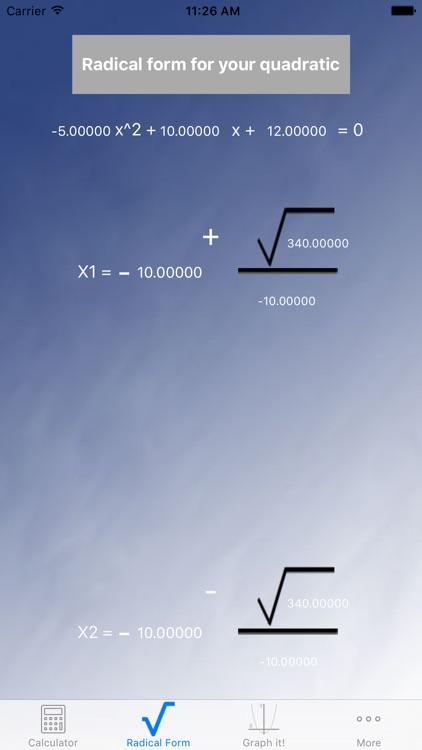 Blue Quadratic Solver screenshot-3
