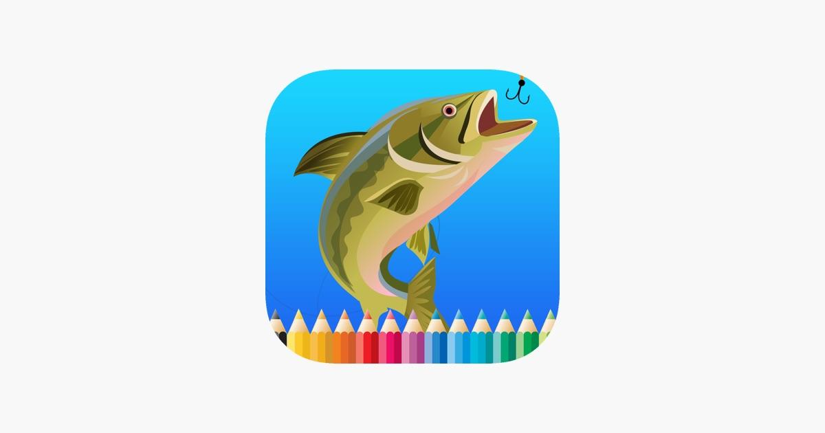Fisch-Malbuch für Kinder: Zeichnen & Malvorlage Spiele kostenlos für ...
