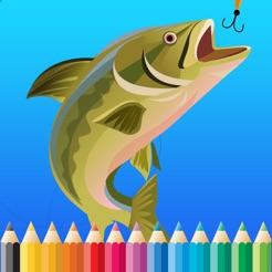 çocuklar Için Balık Boyama Kitabı çizim Ve Boyama Sayfa Oyunları
