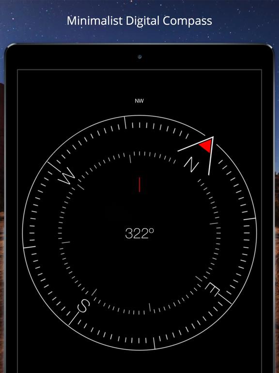 Compass Heading - Minimalist, Magnetic, Digital Direction Finder screenshot