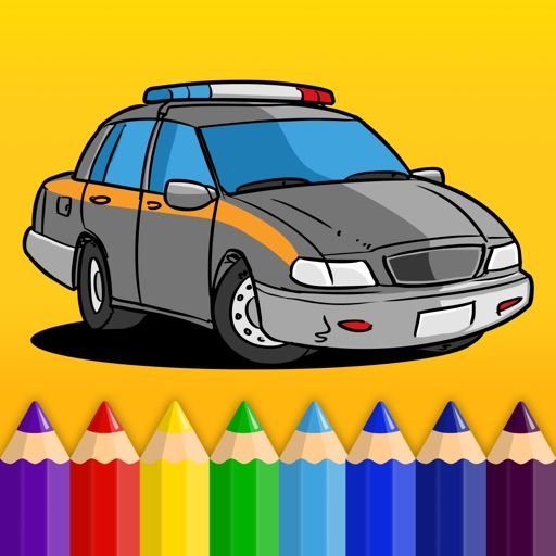 Kids & Play Cars, Trucks, Emergency & Construction Vehicles Coloring Book