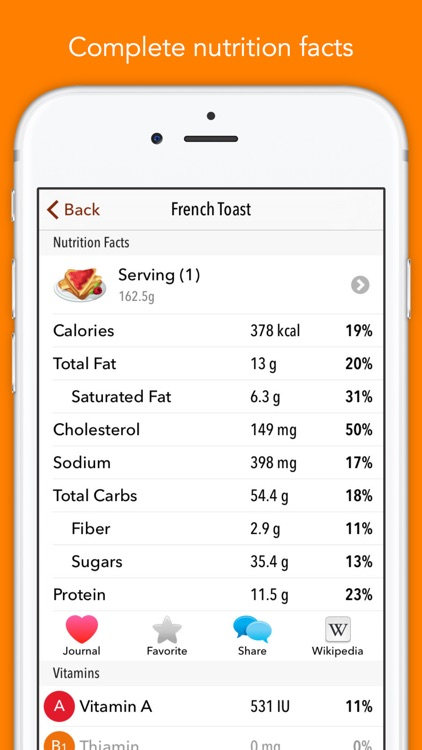 Nutrients - Nutrition facts for foods and recipes screenshot-3