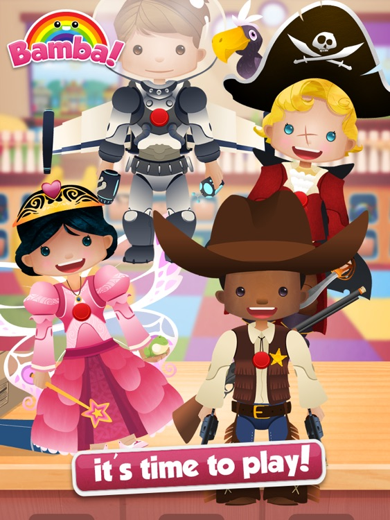 Bamba Toys (Free) - Kids make their very own action figure and dress them up screenshot-4