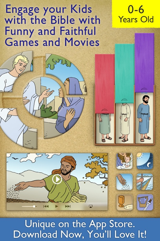 My First Bible Games for Kids, Family and School - Online