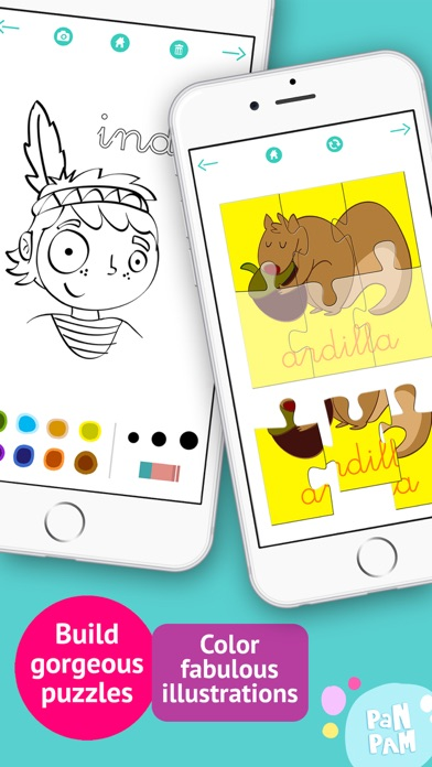 download Learn to read and write the vowels in Spanish - Preschool learning games - iPhone apps 0