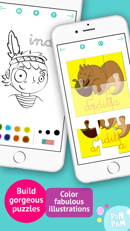 Learn to read and write the vowels in Spanish - Preschool learning games - iPhone screenshot-4