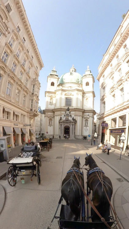 VR Virtual Reality Through Vienna in a Horse-Drawn Carriage - Fiaker Part 1 screenshot-1