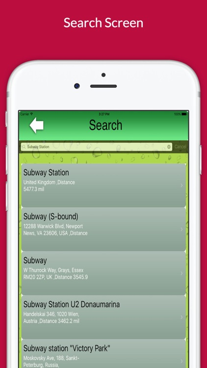 "Find Restaurant ""For Subway"""