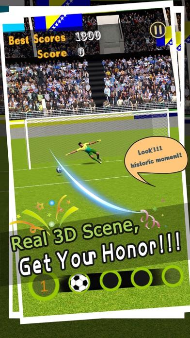 フリーキックのサッカー - ペナルティサッカーゴールのスクリーンショット3