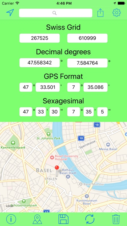 Swiss Grid Coordinates Tool screenshot-1