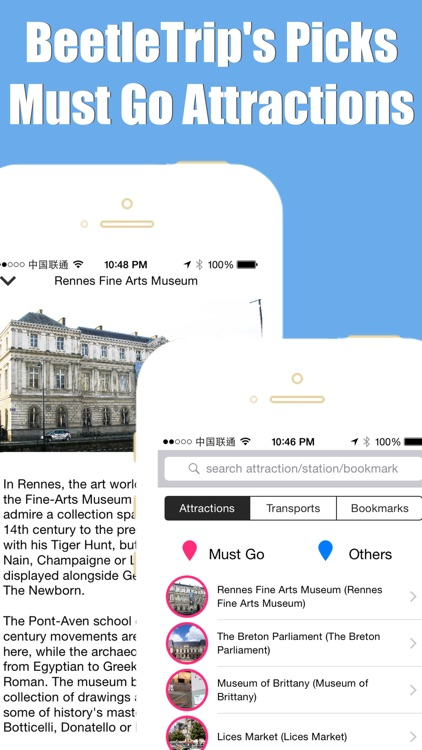 Rennes travel guide with offline map and paris val metro transit by BeetleTrip screenshot-4