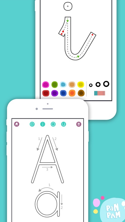 Learn to read and write the vowels - Preschool learning games - For iPhone screenshot-3
