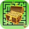 The Labyrinth Coloring Book: Learn to find the treasure in maze, Free games for children