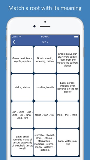 Medical roots, prefixes and suffixes on the App Store