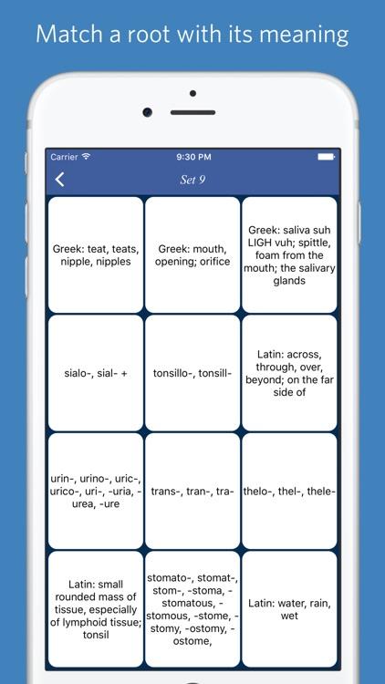 Medical roots, prefixes and suffixes screenshot-4